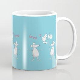 two enamored mouses Coffee Mug