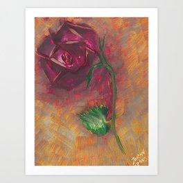 Fallen Rose Art Print