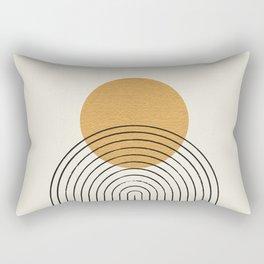 Gold Sun rainbow mountain Rectangular Pillow