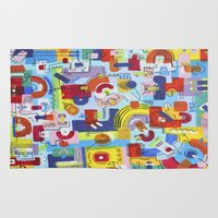 game Area & Throw Rugs featuring Game by Tanja K