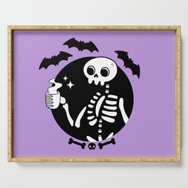 Death Before Decaf // Purple Serving Tray