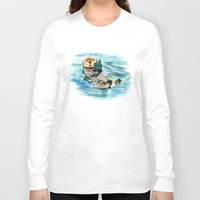 otter Long Sleeve T-shirts featuring Otter by Anna Shell