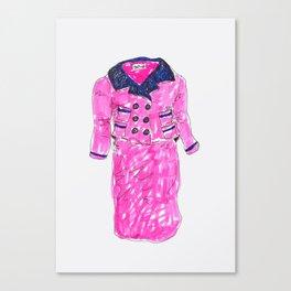 Pink Suit Canvas Print