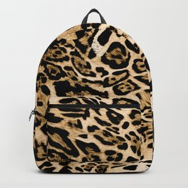 Seamless leopard texture, animal skin Backpack