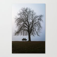 That night we sat together under a tree Canvas Print
