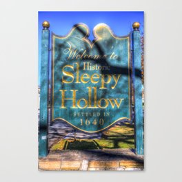 Sleepy Hollow Village Sign Canvas Print