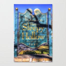 Sleepy Hollow Village Sign Leinwanddruck