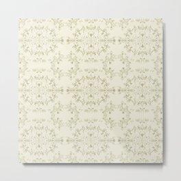 silver filigrane- floral design-tapestry and home decor-romantic -golden Metal Print
