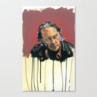 neil young Canvas Prints featuring Neil Young Illustration by Jeremy Okai Davis