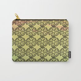 Doodle flowers on pastel background Carry-All Pouch