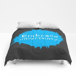 """Embrace Uncertainty"" by Reformation Designs Comforters"