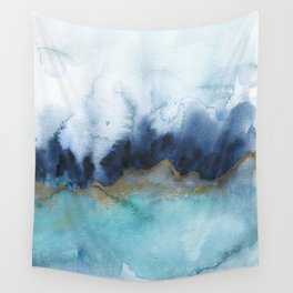 Mystic abstract watercolor Wall Tapestry