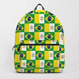 Mix of flag: Vatican and Brazil Backpack