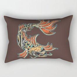Bio-Mechanical Koi Rectangular Pillow