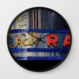 Radio City Music Hall NYC Wall Clock