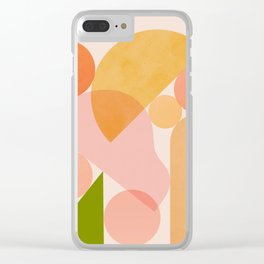 Abstraction_SHAPES_COLOR_Minimalism_002 Clear iPhone Case