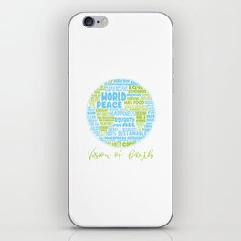 Vision of Earth - World Cloud iPhone Skin