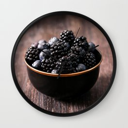 food photography, a bowl of berries. tasty photo Wall Clock