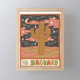 Cactus Tarot Cards- Saguaro Framed Mini Art Print