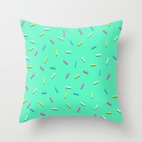 sprinkles Throw Pillows featuring Sprinkles! by Planet64