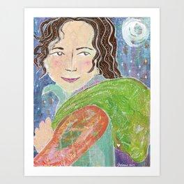 Annie's Baggage Art Print
