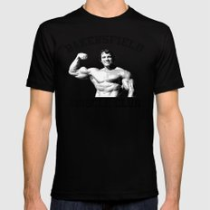 Muscle club MEDIUM Black Mens Fitted Tee