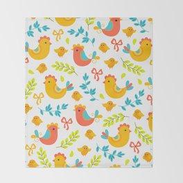Easter Little Peeps Baby Chicks Pattern Throw Blanket