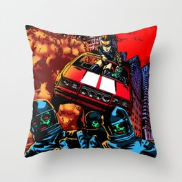 Devil Planet Throw Pillow