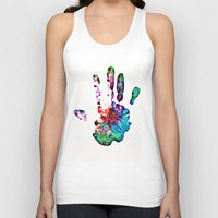hippie Tank Tops featuring Hippie Hand by Alyssa Barclay