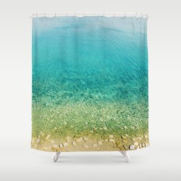 Mediterranean Sea, Italy, Photo Shower Curtain