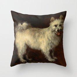 """Thomas Gainsborough """"Spitz Dog"""" Throw Pillow"""
