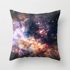 Celestial Fireworks Throw Pillow