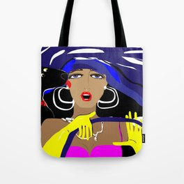 """""""Driving with my best friend"""" Paulette Lust's Original, Contemporary, Whimsical, Colorful Art Tote Bag"""