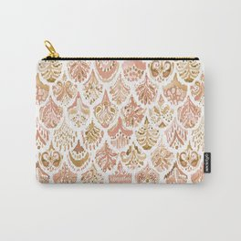 PAISLEY MERMAID Rose Gold Fish Scales Carry-All Pouch