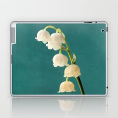 Botanical Flower Photograph - Lilies of the Valley Laptop & iPad Skin