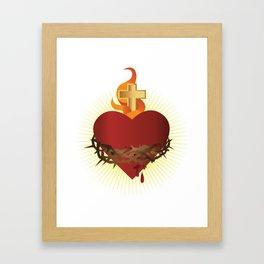 Sacred Heart of Jesus Framed Art Print