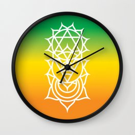 Sacral, Solar Plexus & Heart Chakra Intersection Wall Clock