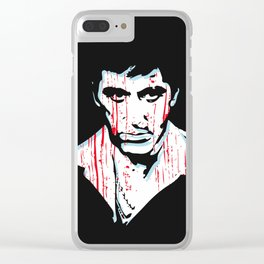 Scarface movie portrait Clear iPhone Case