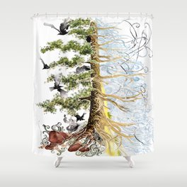 The Woods and The Water Shower Curtain