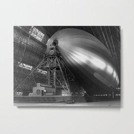USS Macon - America's Scouting Airship Metal Print