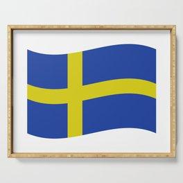 sweden flag Serving Tray