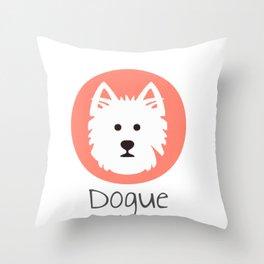 Dogue v.05 Throw Pillow