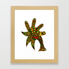 Finger Palm Tree Framed Art Print