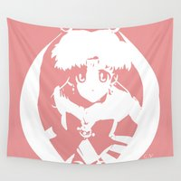 sailor moon Wall Tapestries featuring Sailor Moon by Ambidextris