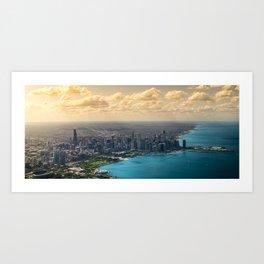 Panorama of Chicago Skyline Art Print