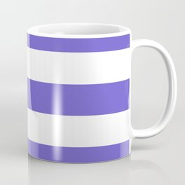 Slate blue - solid color - white stripes pattern Coffee Mug