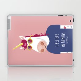 I believe in Humans Laptop & iPad Skin