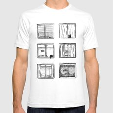 Every Window is A Story White Mens Fitted Tee SMALL