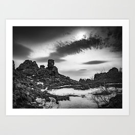Dimmuborgir, North Iceland Art Print
