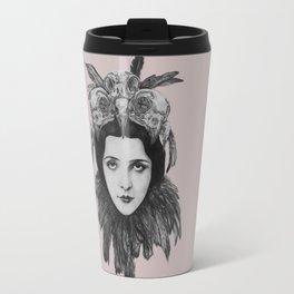 Dame Vogel Schädel Travel Mug